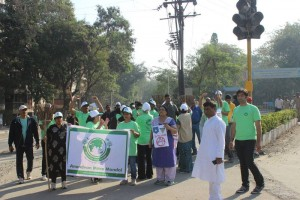 Anandvan members in No plastic Rally