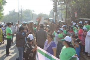 No plastic rally by Anandvan Mitra Mandal
